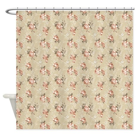 Victorian Rose Pattern Shower Curtain By ShowerCurtainShop