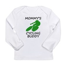 Mommys Cycling Buddy Long Sleeve T-Shirt