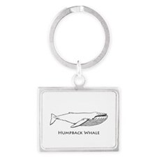 Humpback Whale (illustration) Keychains