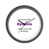 &quot;Dyslexia Pride&quot; Wall Clock