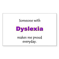 """Dyslexia Pride"" Rectangle Decal"
