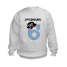 Personalized 6th Birthday Pirate Sweatshirt