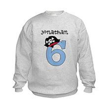 Personalized 6th Birthday Pirate Sweatshirt