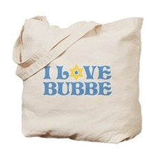I love Bubbe Star Tote Bag