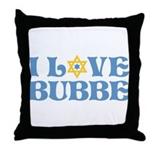 I love Bubbe Star Throw Pillow