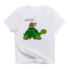 Snail on Turtle Infant T-Shirt