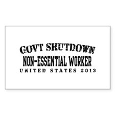NonEsntl - GovtShut13 Decal