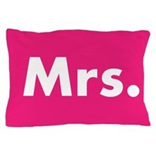 Hot Pink half of Mr and Mrs set - Mrs Pillow Case