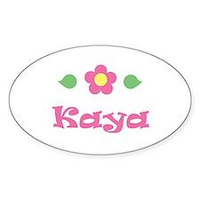 "Pink Daisy - ""Kaya"" Oval Decal"