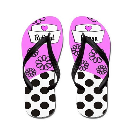 Retired Nurse Flip Flops