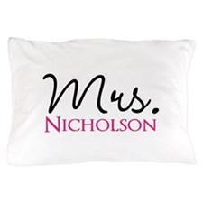 Customizable Mr and Mrs set - Mrs Pillow Case