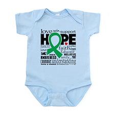 Bipolar Disorder Words Infant Bodysuit