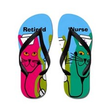 retired nurse ff 7 Flip Flops