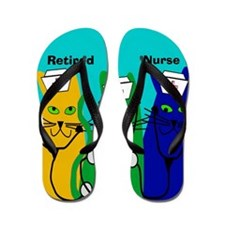 Retired Nurse FF 6 Flip Flops