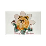 Brussels Happy Holidays Rectangle Magnet (100 pack