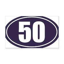 50 Blue Oval Rectangle Car Magnet