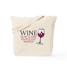 Wine Classy People Tote Bag