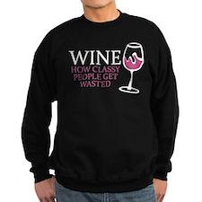 Wine Classy People Sweatshirt