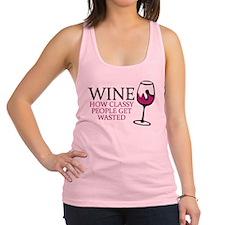 Wine Classy People Racerback Tank Top