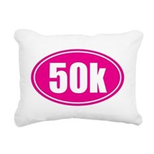 50k Pink oval Rectangular Canvas Pillow