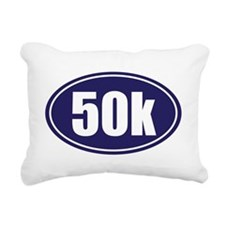 50k Blue oval Rectangular Canvas Pillow