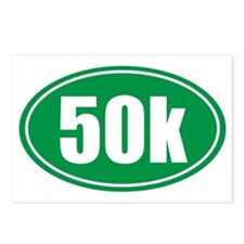 50k green oval Postcards (Package of 8)