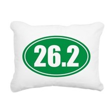 26.2 green oval Rectangular Canvas Pillow