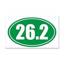 26.2 green oval Rectangle Car Magnet