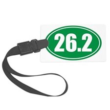 26.2 green oval Luggage Tag