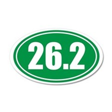 26.2 green oval Wall Decal