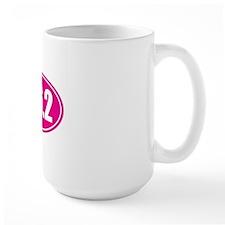 26.2 pink oval Mug
