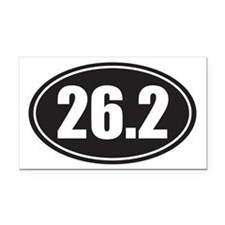 26.2 black oval Rectangle Car Magnet