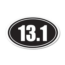 13.1 black oval Wall Sticker