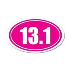 13.1 pink oval Wall Decal