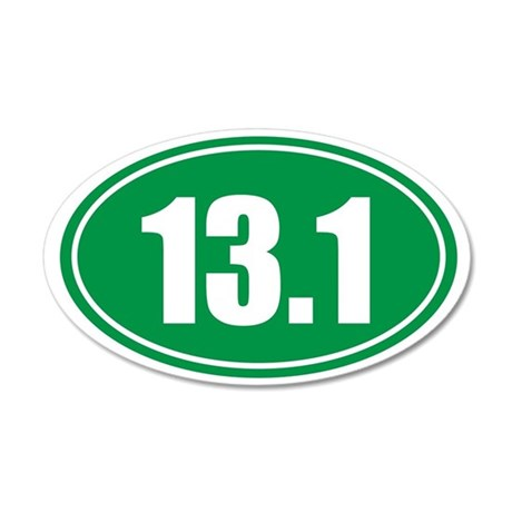 13.1 green oval 35x21 Oval Wall Decal