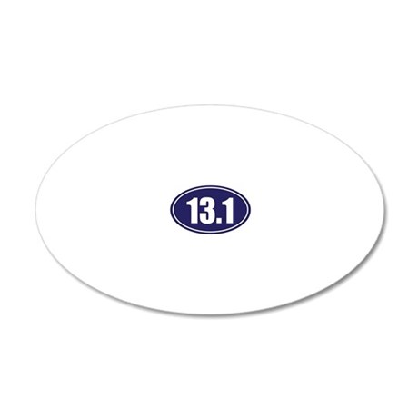13.1 blue oval 20x12 Oval Wall Decal