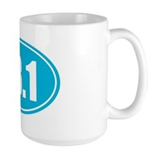13.1 light blue oval Mug