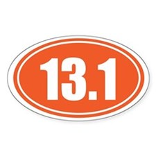 13.1 orange oval Decal