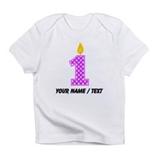 Custom First Birthday Candle Infant T-Shirt