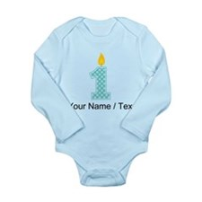 Custom First Birthday Candle Body Suit