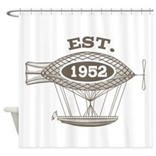 Vintage Birthday Est 1952 Shower Curtain