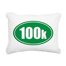 100k green oval Rectangular Canvas Pillow
