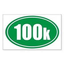 100k green oval Decal