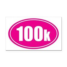 100k pink oval Rectangle Car Magnet