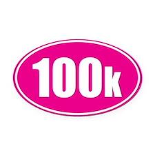 100k pink oval Oval Car Magnet