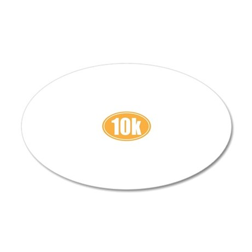 10k orange oval 20x12 Oval Wall Decal