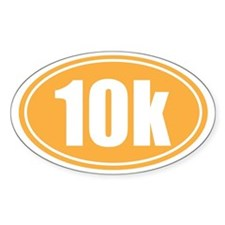 10k orange oval Decal