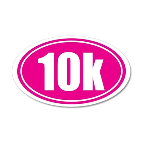 10k pink oval 35x21 Oval Wall Decal