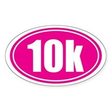10k pink oval Decal