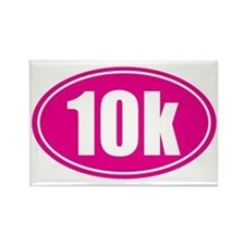 10k pink oval Rectangle Magnet